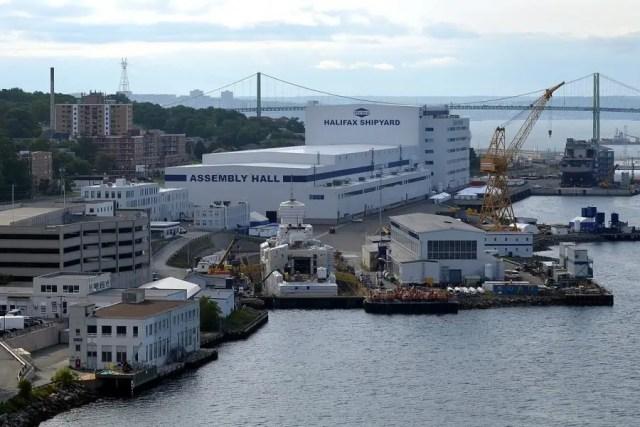 Porto de Halifax: empresa de construir navio na província de Nova Scotia uma das províncias do Canadá