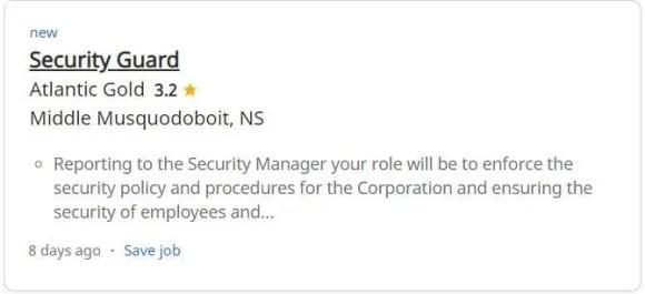 Exemplo de emprego que alguém poderia procurar para começar carreira na polícia do Canadá
