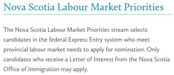 Nova Scotia Labour Market Priorities