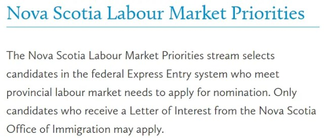 Nova Scotia Labour Market Priorities
