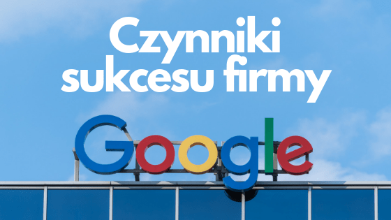 Google - logo na błękitnym tle