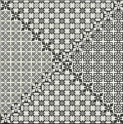 carreaux ciment noir et blanc