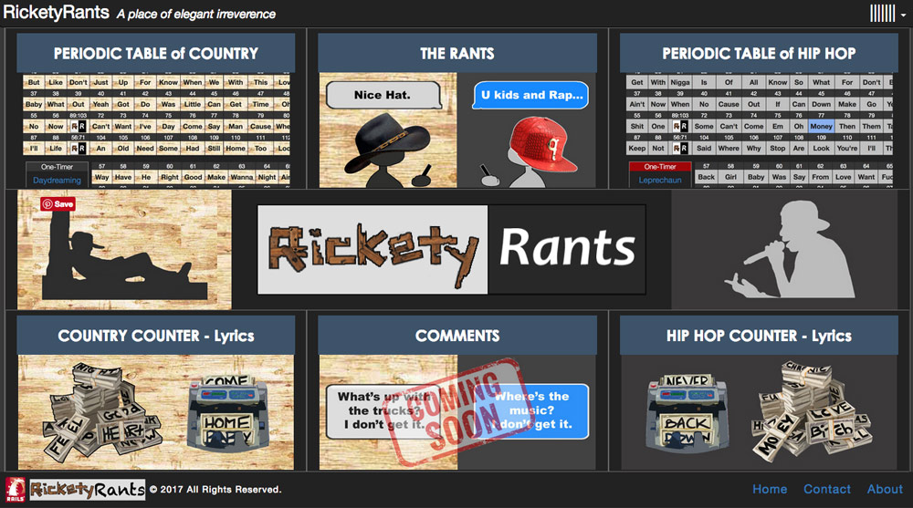 imi web designs project screenshot ricketyrants