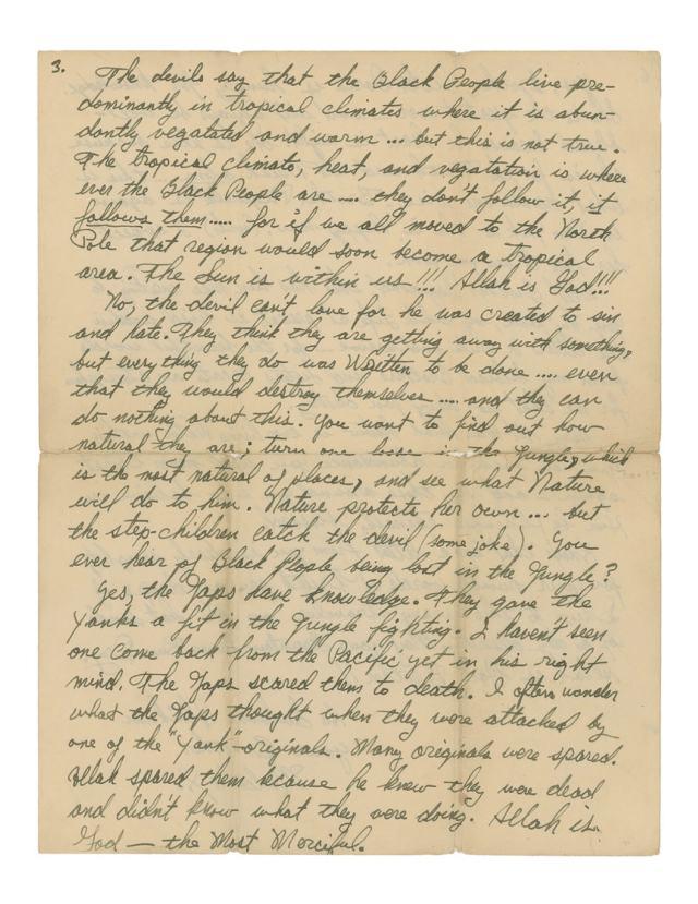 Malcolm X Letter re Jazz and Sonny Stitt 3