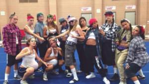 Californian teenagers 'gansta' pose