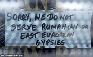 racist shop advert