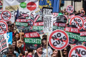 no more cuts austerity march