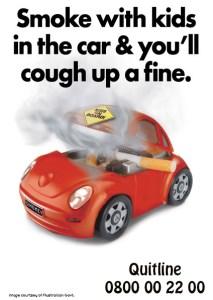 no smoking kids in the car