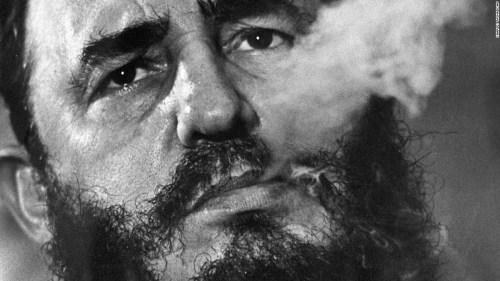 Fidel Castro with cigar | imjussayin.com