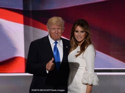 Melania Trump and Donald Trump | www.imjussayin.com