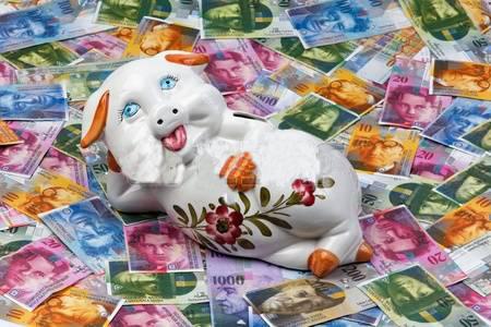 austerity fat piggy relaxing in a lot of money | www.imjussayin.com