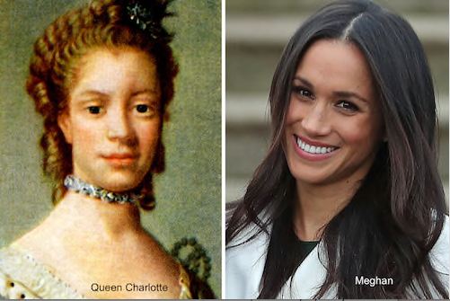 meghan markle and queen charlotte  | www.imjussayin.com