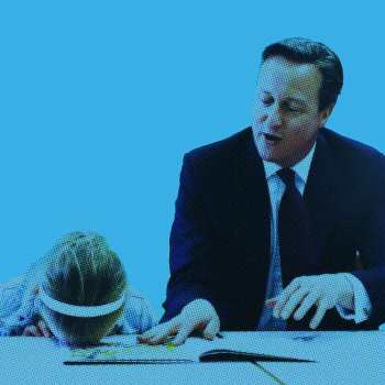 whats on School Play David Cameron next to a child | www.imjussayin.com