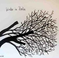 Winter in Berlin Ink on paper, 20x20cm by Imke Rust