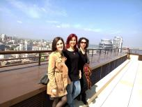 With Iryna Polikarchuk and Sabina Shikilinskaja. Photo by Artsvit Gallery