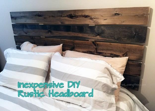 diy rustic headboard - diy headboard for under $50