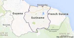 MAP SURINAM COUNTRY