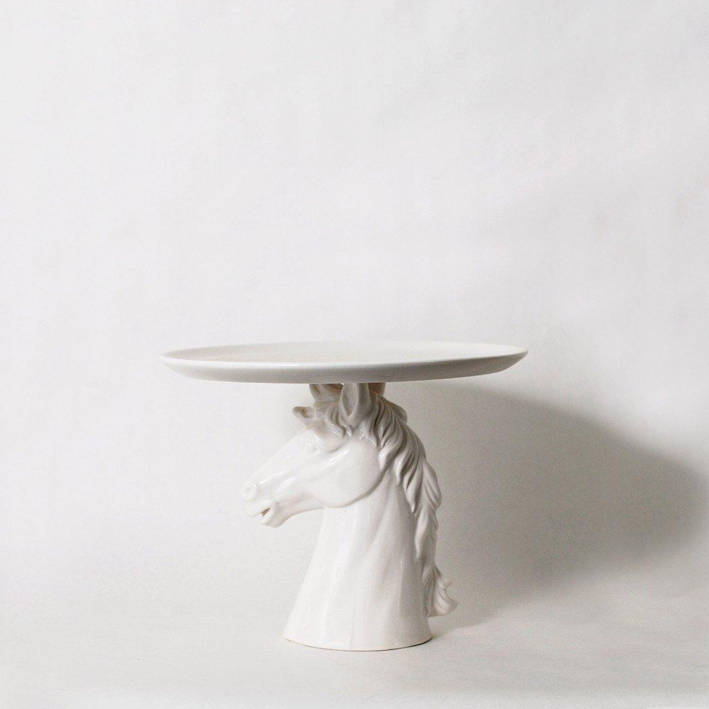 & Takes the Cake Horse Head Cake Plate - Imm Living