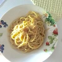 Spaghetti al pesto di limoni, pistacchi e pangrattato