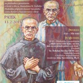 Přednáška s promítáním o žiovtě a díle sv. Maxmiliána Kolbeho