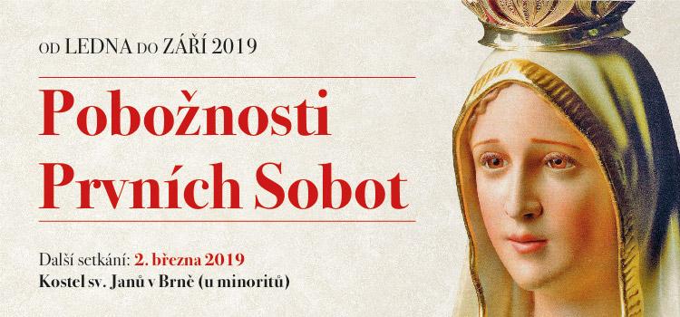 První soboty u minoritů v Brně - 2019