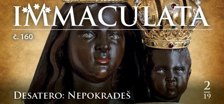 Obálka časopisu Immaculata č.160