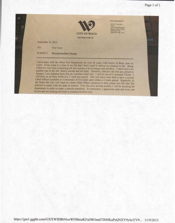 Letter from John Johnston