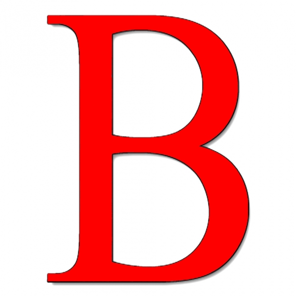 Disegno di Lettera B a colori