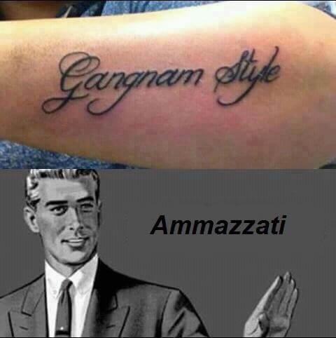 Gangnam Style Tatuaggio