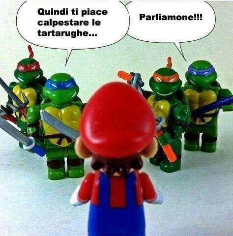 Supermario VS Tartarughe Ninja Memes