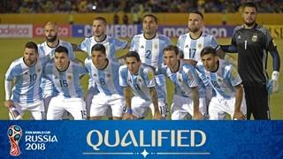 teamfoto voor Argentina