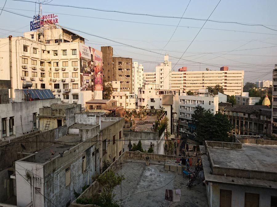 Indientrip - Ausblick auf Vadodara vom Hotel aus