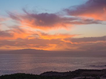 Teneriffa Urlaub - roter Sonnenuntergang