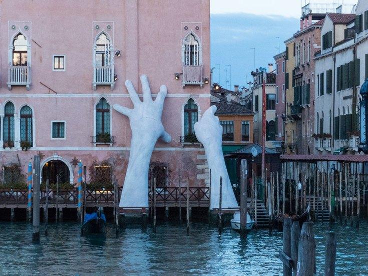 Venedig Street-Art am Canal Grande