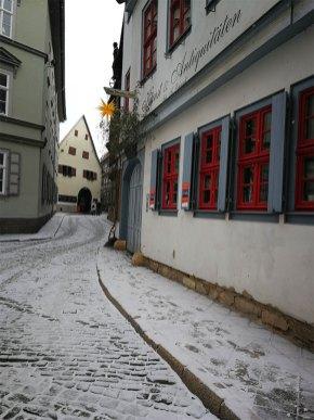 Beim Lutherquartier in Erfurt
