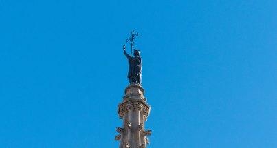 Turmspitze der Kathedrale von Barcelona