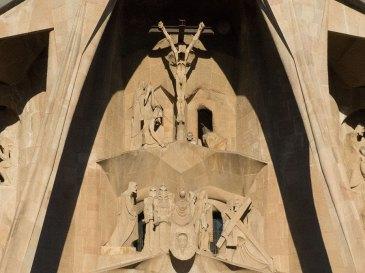 Sagrada Familia Ausgang Jesusbild