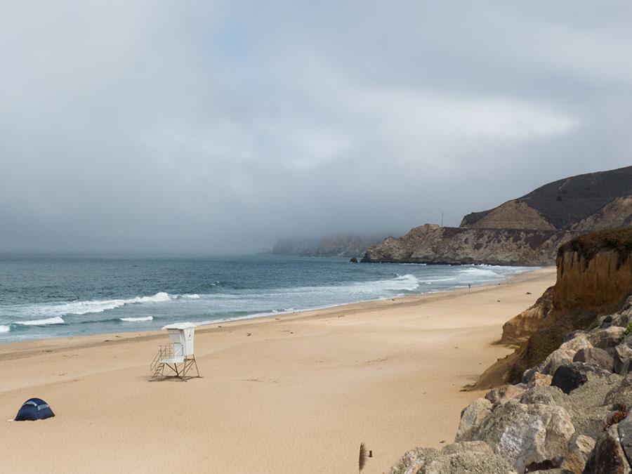 Highway 1 Aussicht einsamer Strand