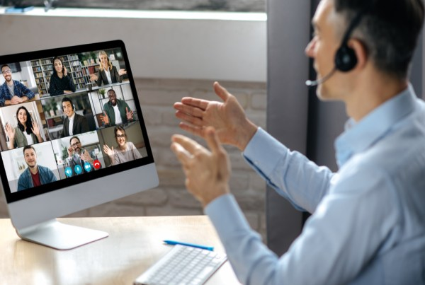 Man in a video conference