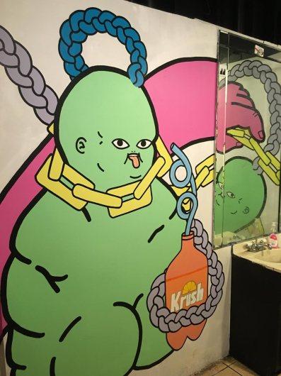 Bathroom art / Photo courtesy of Mammal Gallery