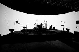 The UMA on StudioX Telford LED streaming studio stage