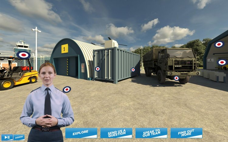 Virtual event production from Immersive AV for the RAF