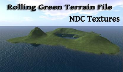 Rolling green Terrain side view
