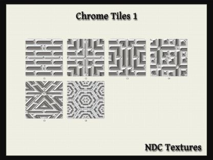 Chrome Tiles 1 Texture Pack by NDC Textures