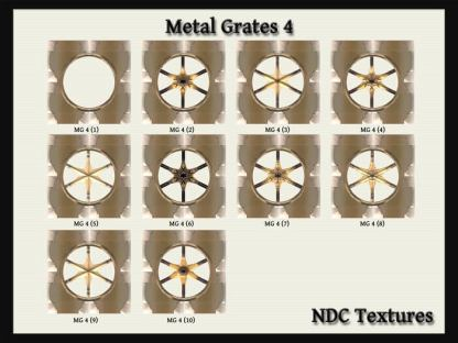 Metal Grates 4 Texture Pack by NDC Textures