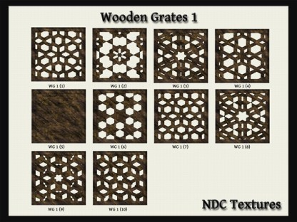 Wooden Grates #1 Texture Pack by NDC Textures