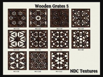 [NDC] T077 Wooden Grates 5 Texture Pack