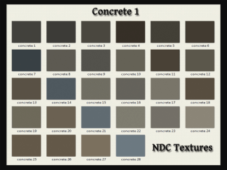 [Immersive Digital] NDC-T036 Concrete 1 Texture Pack Contact Sheet