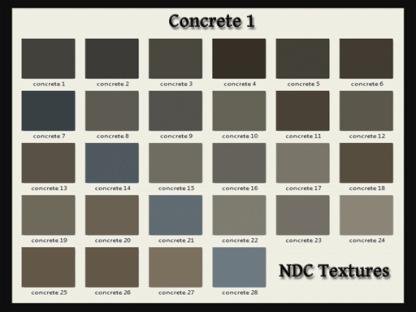 [Immersive Digital] NDC-T036 Concrete 1 Texture Pack Contact Sheet