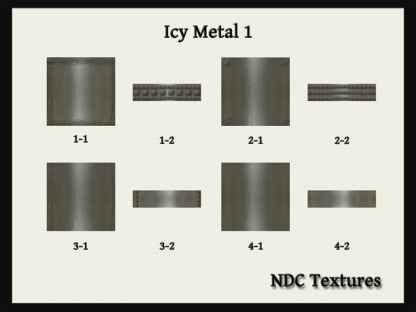 NDC Textures Contact Sheet Icy Metal 1